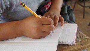 Joven escribiendo en su cuaderno