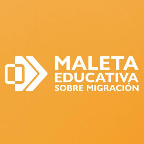 Logotipo de Maleta Educativa sobre Migración
